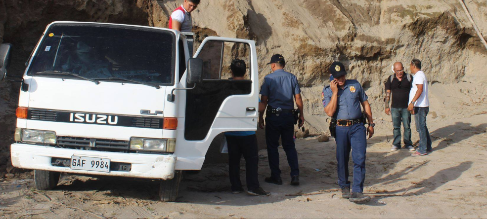Seized Illegal truck-load of Sand in Neg Or